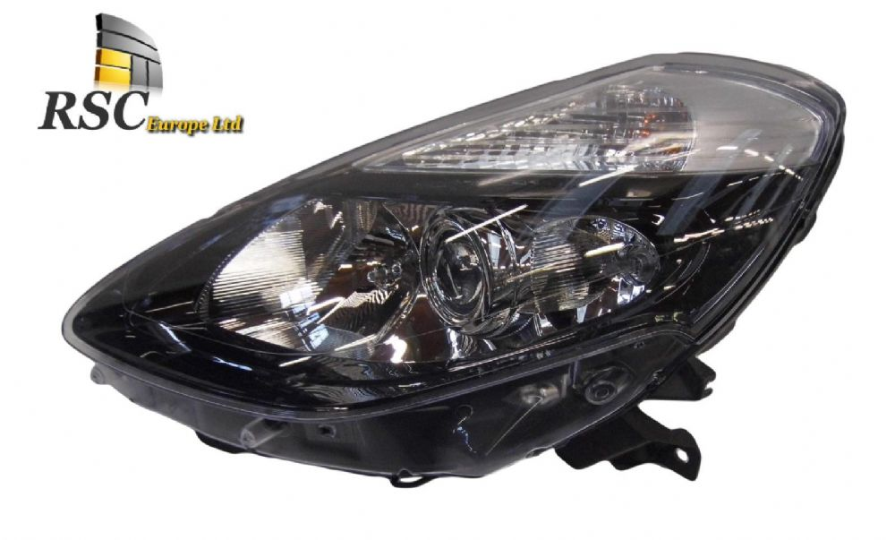 NEW RENAULT CLIO III PHASE 2 LEFT HALOGEN HEADLIGHT IN BLACK 260606129R / 7701072014 / 260608703R / 260608703R